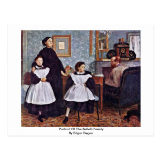 Postal Retrato de la familia de Bellelli de Edgar Degas