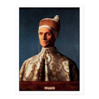 Postal Retrato de Leonardo Loredan de Juan Bellini