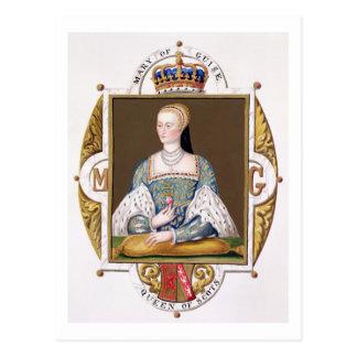 Postal Retrato de Maria de 1515-60) reinas del modo (de