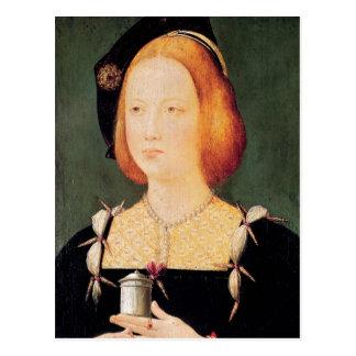 Postal Retrato de Maria de Inglaterra