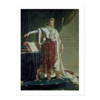 Postal Retrato de Napoleon I en sus trajes de la