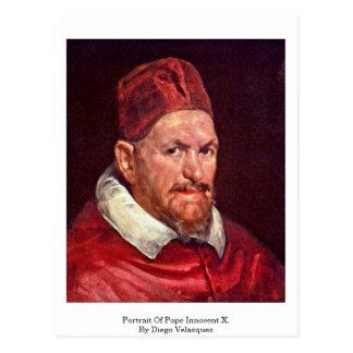Postal Retrato de papa Inocencio X. Por Diego Velázquez