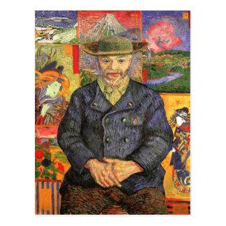 Postal Retrato de Père Tanguy, bella arte de Van Gogh
