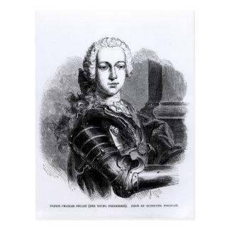 Postal Retrato de príncipe Charles Edward Estuardo