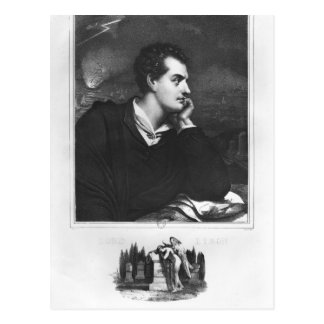 Postal Retrato de señor Byron
