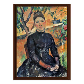 Postal Retrato de señora Cezanne In The Greenhouse