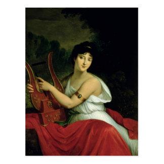 Postal Retrato de señora de la Pleigne