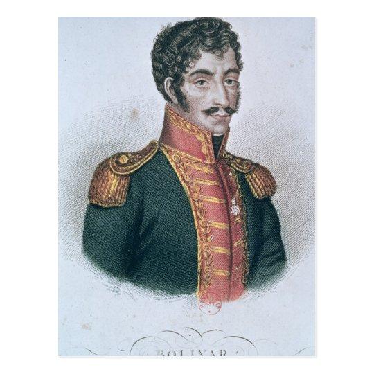 Postal Retrato de Simon Bolivar