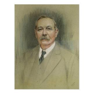Postal Retrato de sir Arthur Conan Doyle