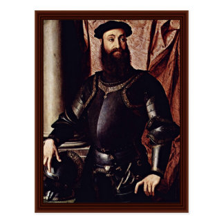 Postal Retrato de Stefano Colonna. Por Bronzino Ángel