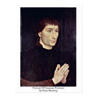 Postal Retrato de Tomás Portinari de Hans Memling
