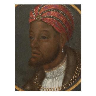 Postal Retrato de un africano rico