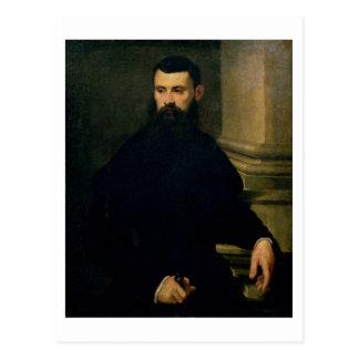 Postal Retrato de un hombre (aceite en lona) 2