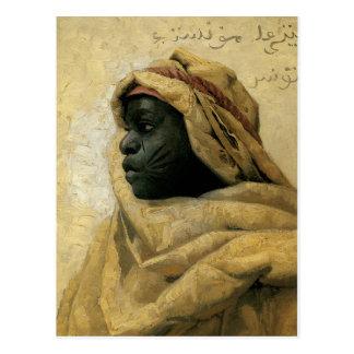 Postal Retrato de un Nubian