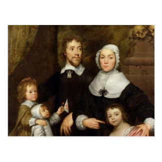 Postal Retrato de una familia, probablemente de que de