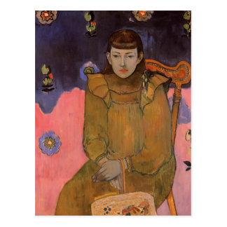 Postal Retrato de una mujer joven, Vaite de Paul Gauguin-
