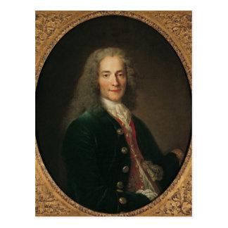 Postal Retrato de Voltaire después de 1718