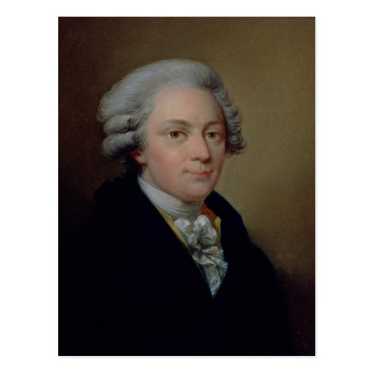 Postal Retrato de Wolfgang Amadeus Mozart