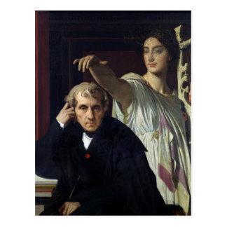 Postal Retrato del compositor italiano Cherubini