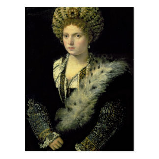 Postal Retrato del d'Este de Isabel