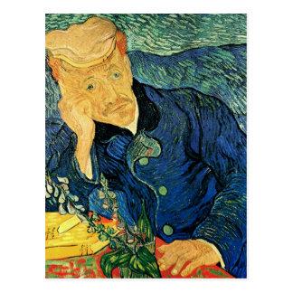 Postal Retrato del doctor Gachet, bella arte de Van Gogh