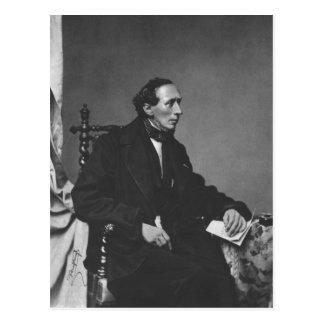 Postal Retrato del escritor Hans Christian Andersen