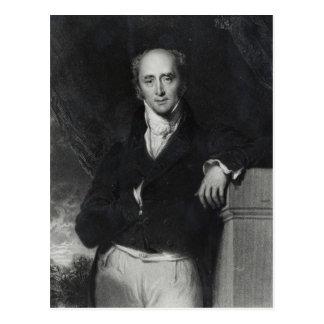 Postal Retrato del gris honorable correcto de Charles