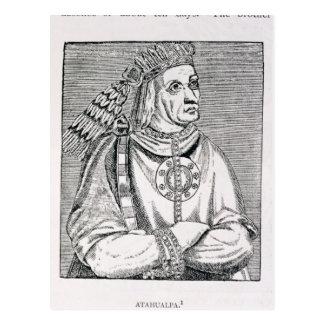 Postal Retrato del jefe pasado del inca, Atahualpa