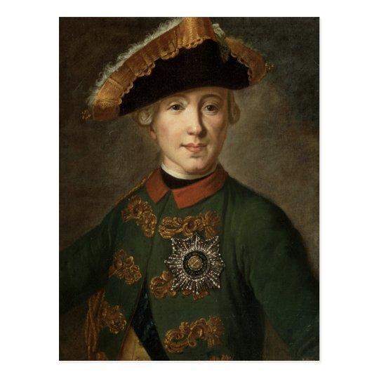 Postal Retrato del Tsar Peter III