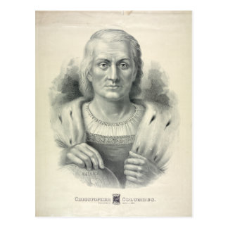 Postal Retrato del vintage de Cristóbal Colón