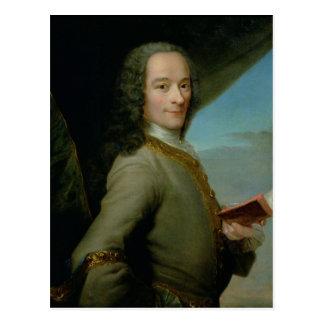 Postal Retrato del Voltaire joven