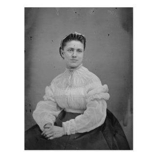 Postal Retrato desconocido de la era de la guerra civil