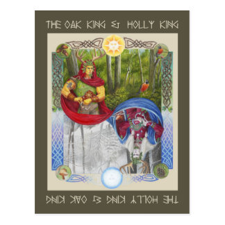 Postal Retrato doble del rey del roble y del rey del