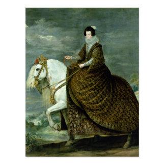 Postal Retrato ecuestre de Elisabeth de Francia