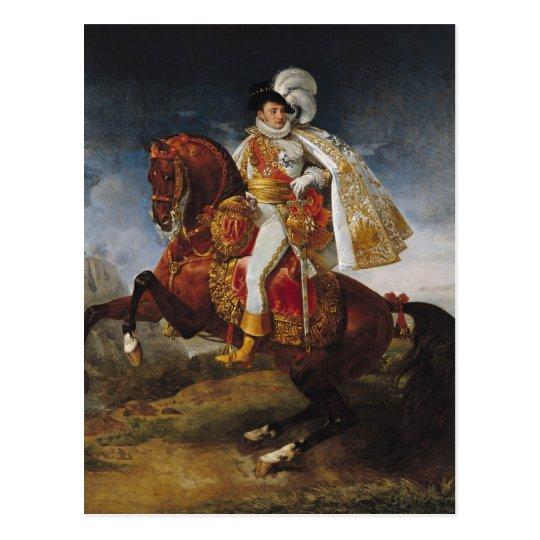 Postal Retrato ecuestre de Jerome Bonaparte 1808
