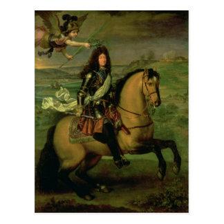 Postal Retrato ecuestre de Louis XIV