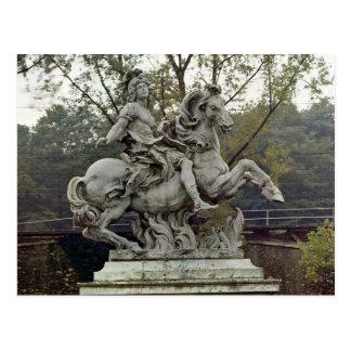 Postal Retrato ecuestre de Louis XIV 2