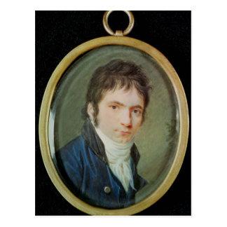 Postal Retrato miniatura de Ludwig van Beethoven, 1802
