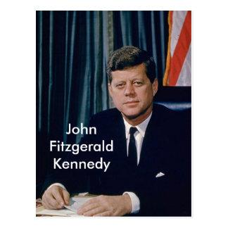 Postal Retrato oficial de JFK del public domain