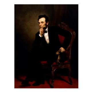 Postal Retrato oficial de la Casa Blanca de Abraham