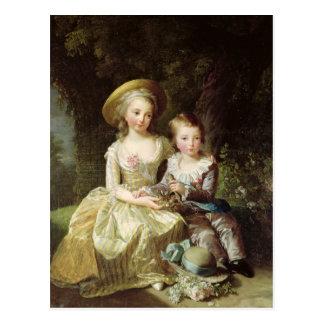Postal Retratos del niño de Marie-Teresa-Charlotte