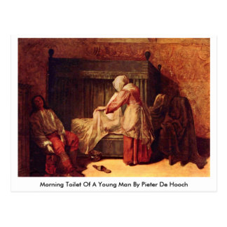 Postal Retrete de la mañana de un hombre joven de Pieter