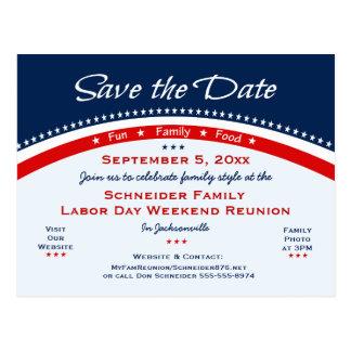 Postal Reunión de familia del Día del Trabajo, reserva