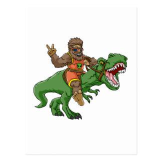 Postal rex Bigfoot del rex-T del Bigfoot-dibujo animado t