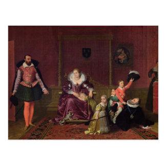 Postal Rey de Enrique IV de jugar de Francia y de Navarra