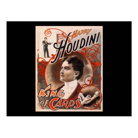 Postal Rey Of Cards de Harry Houdini