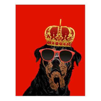 Postal Rey Rottweiler de la vida del gamberro para los