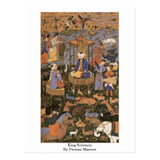 Postal Rey Solomon By persian Masters