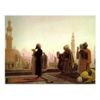 Postal Rezo de Jean-León Gerome- en El Cairo