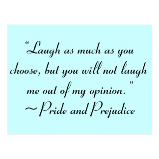 Postal Ría tanto como usted elige la cita de Jane Austen